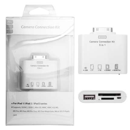 Adaptér čtečky paměťových karet iPad 5in1 Global technology