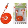 KABEL USB iPHONE 3G/3Gs/4/4s plochý  oranžový