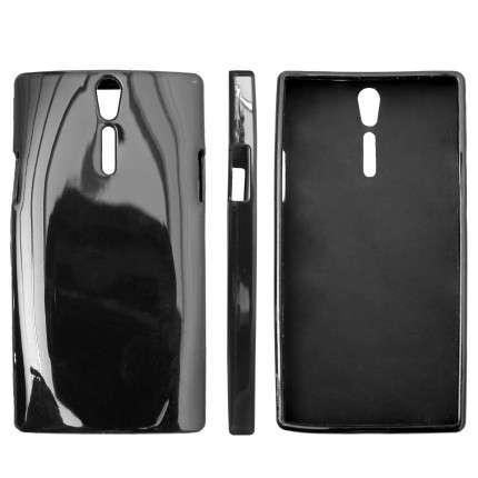Pouzdro na Nokia 308 Asha - JELLY CASE (kryt hran a zadní části) - černé