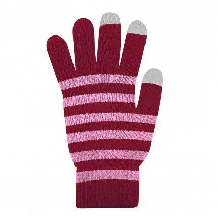Dotykové rukavice BORDO+Růžové L size Ego mobile