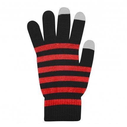 Dotykové rukavice Černé+Červené L size Ego mobile