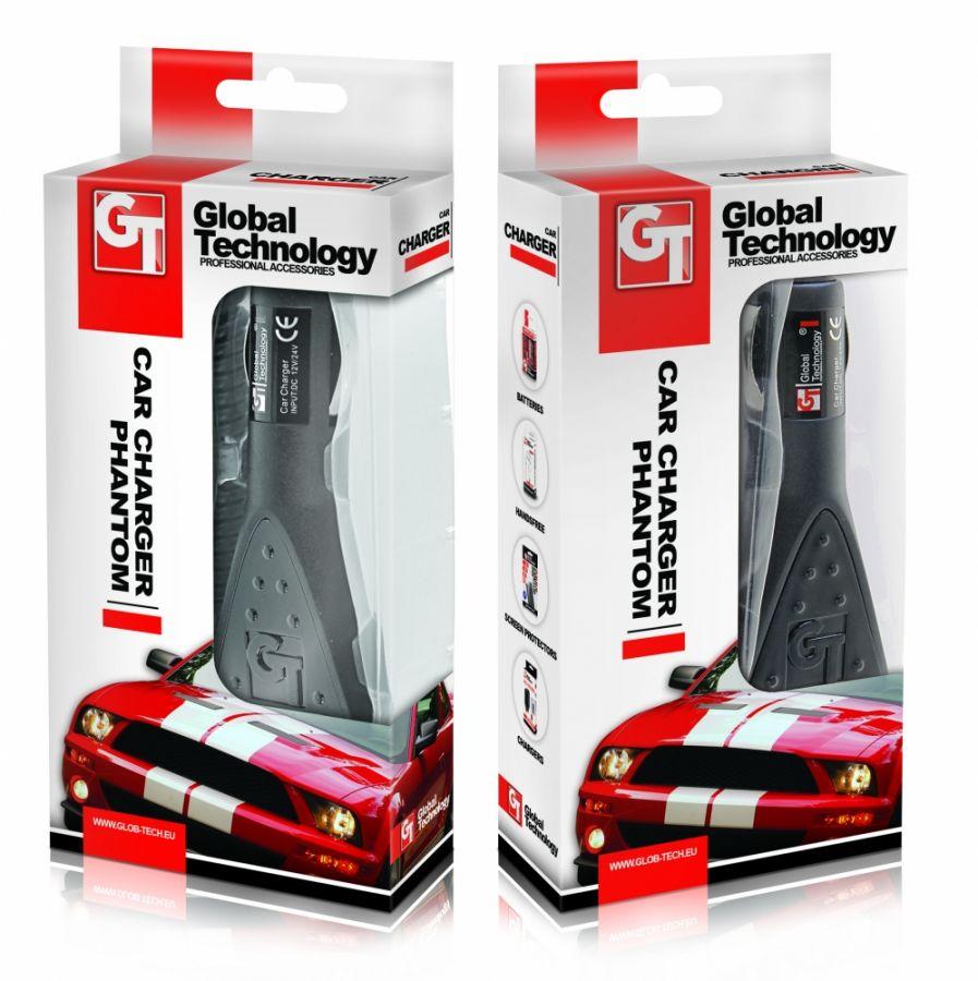 Nabíječka mobilního telefonu do auta GT PHANTOM SAMSUNG P1000/P3100/P5100 1.6A Global technology