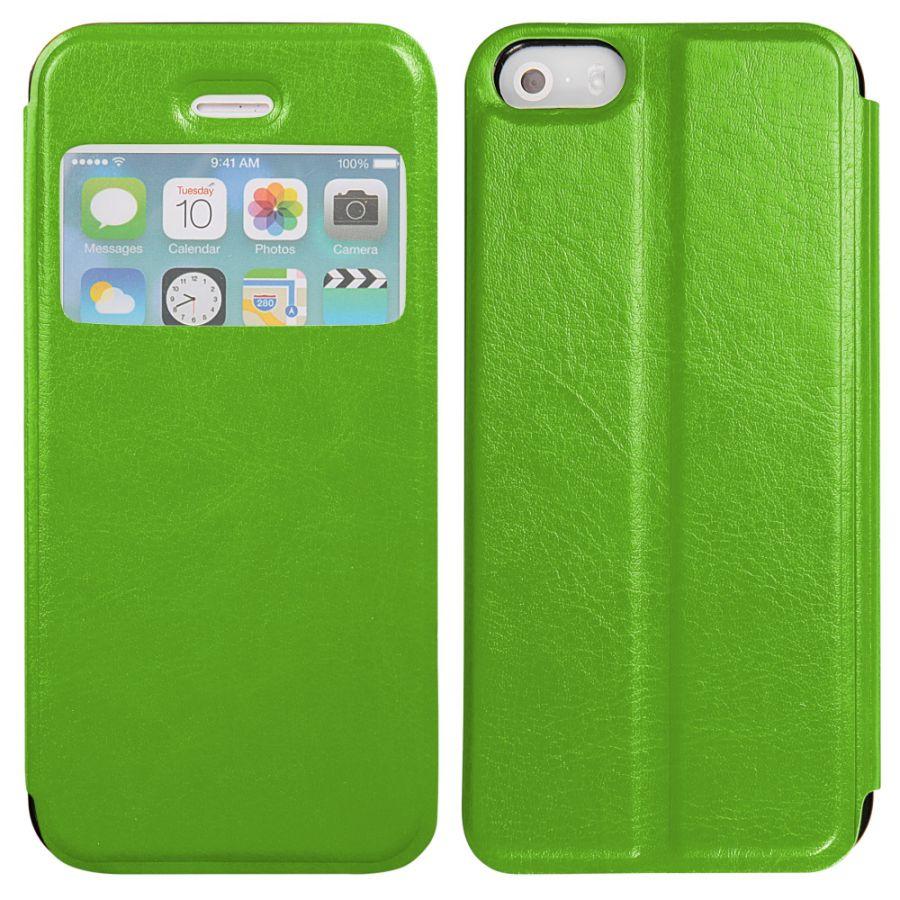 Pouzdro na iPhone 5 / 5s - SLIM VIEW - zelené EGO Mobile