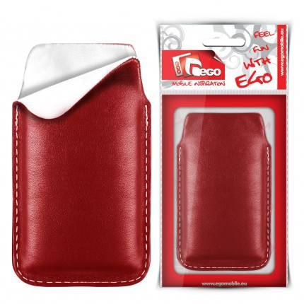 Pouzdro Sony Ericsson Xperia X10 mini PRO červené kožené Ego mobile