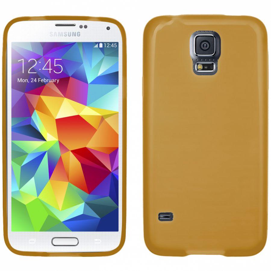 Pouzdro EGO Mobile na Samsung S5 G900F Metallic zlaté