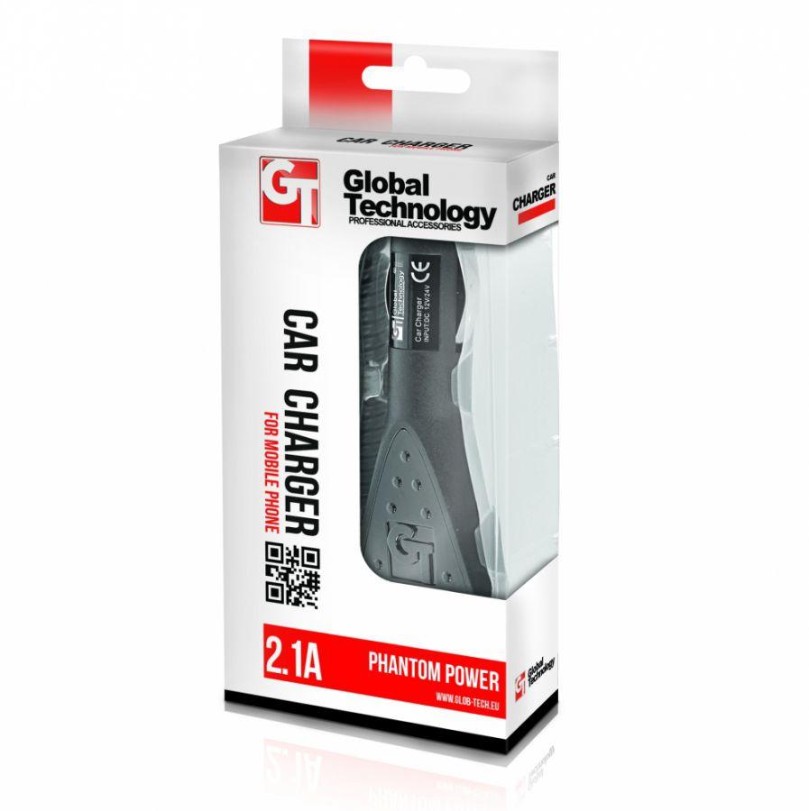 Nabíječka mobilního telefonu GT PHANTOM N9005 Note3 / S5 G900F 2.1A do auta Global Technology