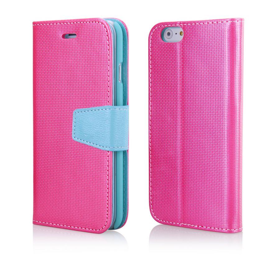 """Pouzdro na iPhone 6 4.7"""" - ETUI PURSE - zpevněné - růžové EGO Mobile"""