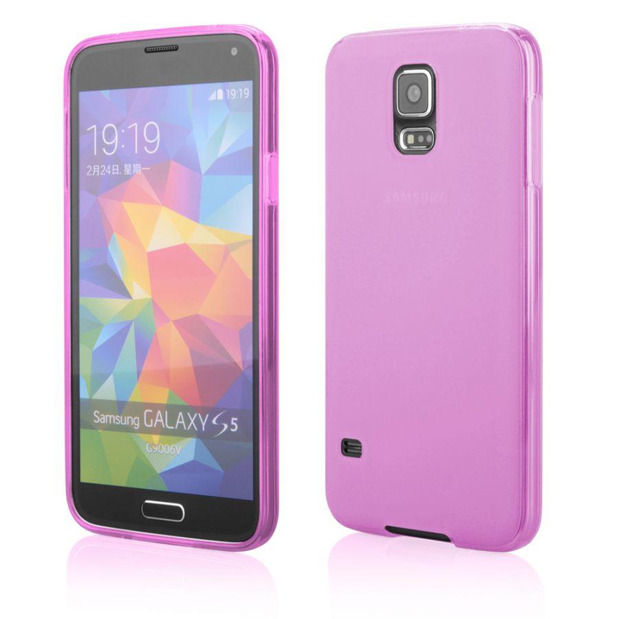 Pouzdro na Samsung G900 S5 - FITTY (zadní kryt) - MILK růžové Jelly Case