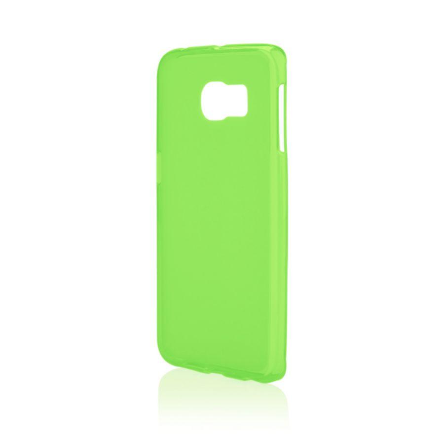 Pouzdro na Samsung G925 S6 EDGE - FROSTED (zadní kryt) - zelené Jelly Case