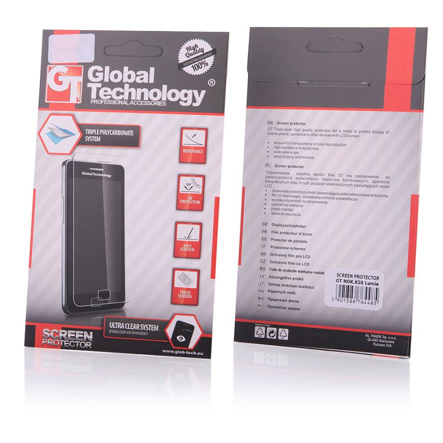 Ochranná fólie na displej LCD SONY XPERIA Z4 - GT Global Technology