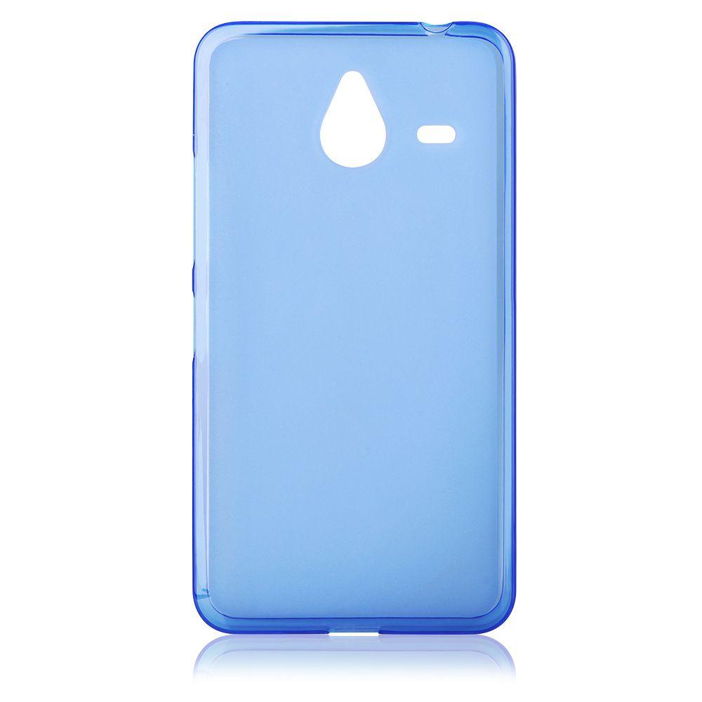 """Pouzdro na Microsoft Lumia 640 XL - CASE """"FROSTED"""" (zadní kryt) - modré Jelly Case"""