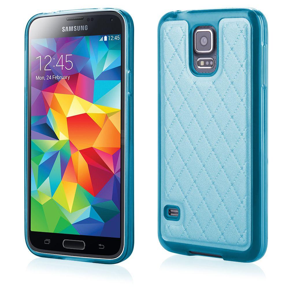 Pouzdro Qult Skin pro Samsung G900 S5 modré