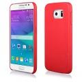 """Pouzdro na Samsung G920 S6 - CASE """"LEATHER THIN"""" (zadní kryt) - červené"""