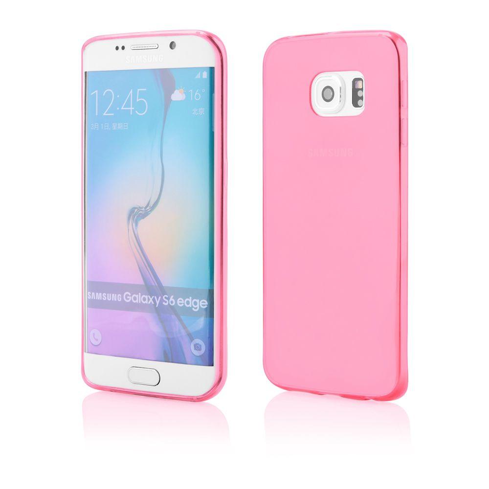 """Pouzdro na Samsung G925 S6 EDGE - CASE """"FITTY"""" (zadní kryt) - růžové Jelly Case"""