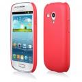 """Pouzdro na Samsung I8190 S3 Mini - CASE """"LEATHER THIN"""" (zadní kryt) - červené"""