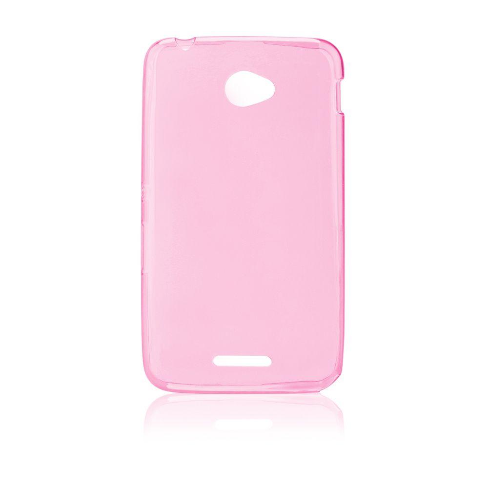 """Pouzdro na Sony Xperia E4 (E2105) - """"FITTY"""" (zadní kryt) - růžové Jelly Case"""