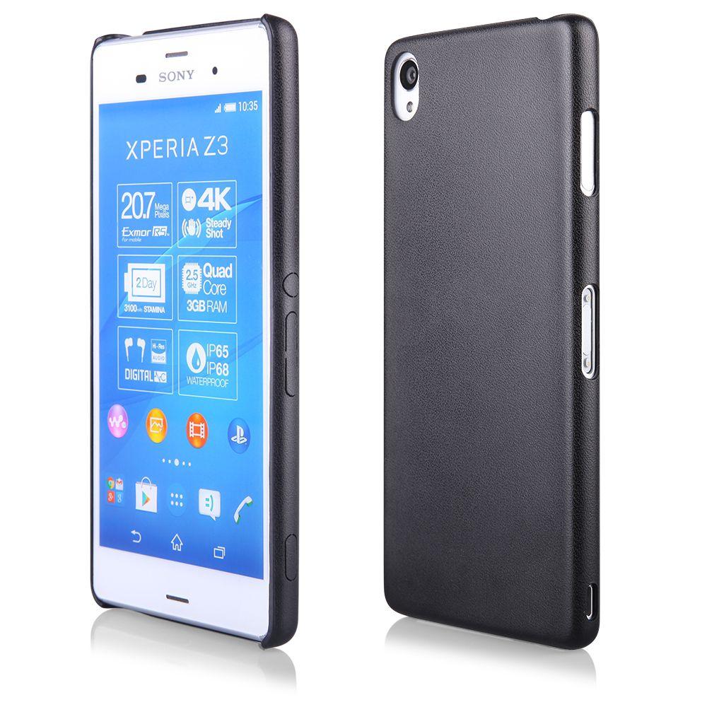 """Pouzdro na Sony Xperia Z4/Z3+ - CASE """"LEATHER THIN"""" (zadní kryt) - černé Ego Mobile"""