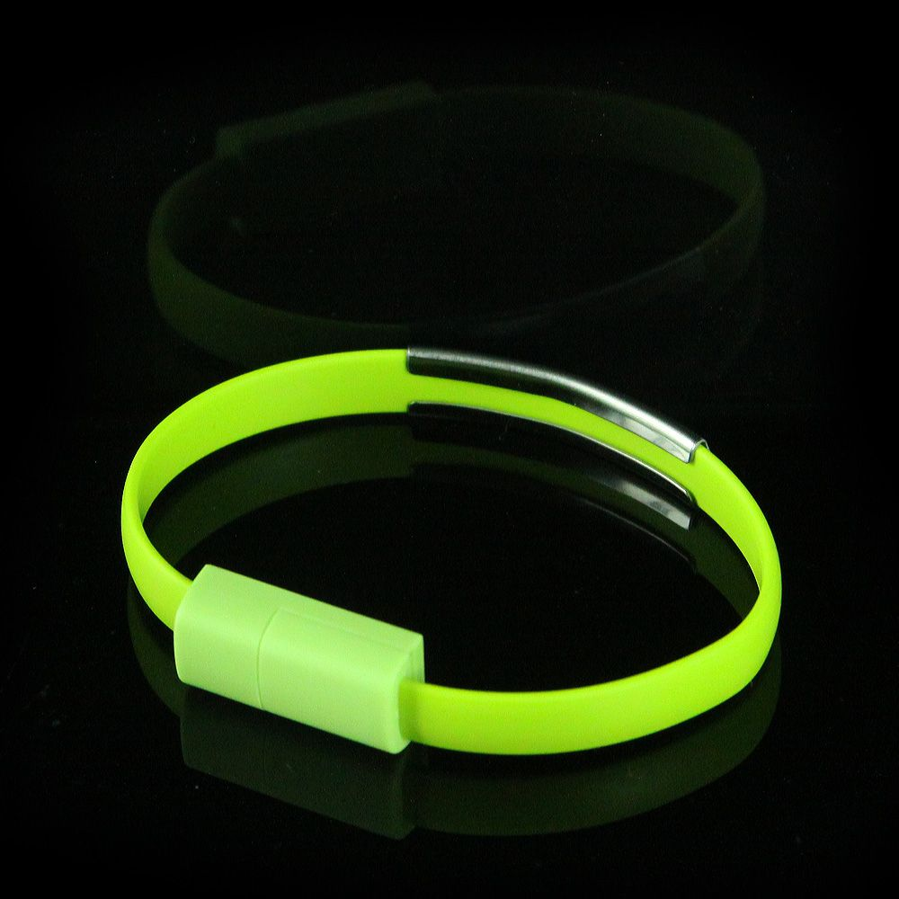 KABEL USB microUSB Náramek zelený Global Technology