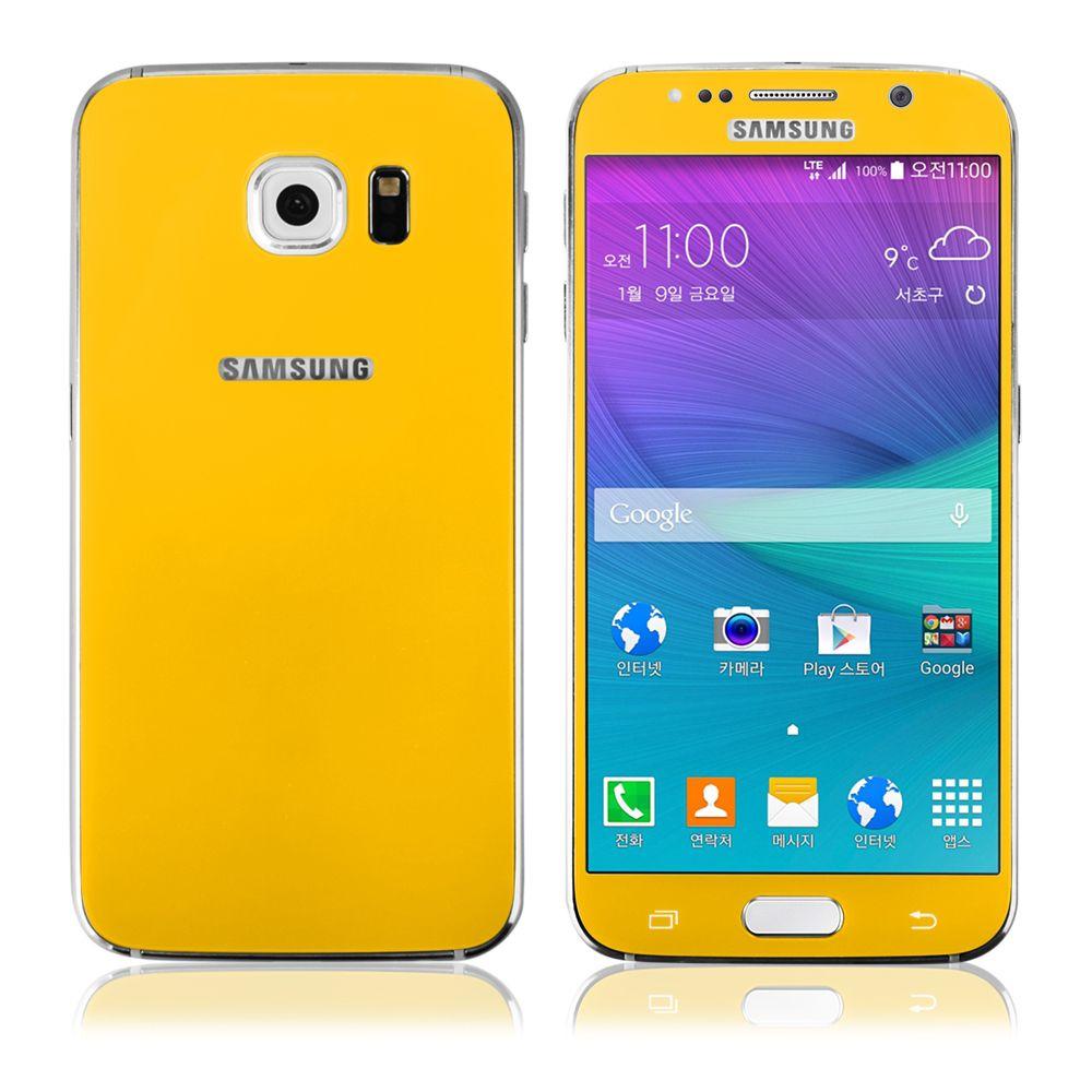 Ochranné tvrzené sklo pro Samsung G920 S6 (přední+zadní) žluté - TEMPERED GLASS Global Technology