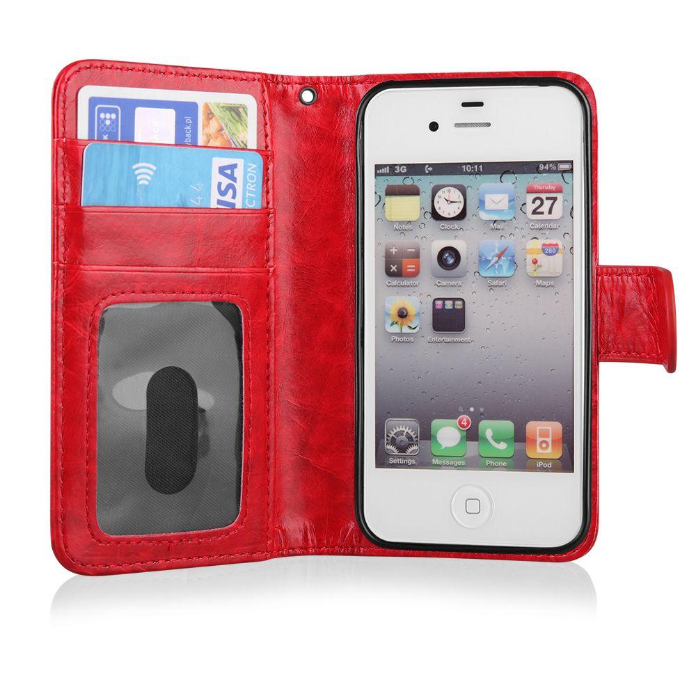 Pouzdro na LG G4c (H525) QULT WALLET 2in1 ZIPPER červené EGO Mobile