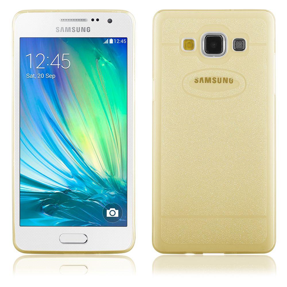 """Pouzdro na Samsung A3 - CASE """"SHINE"""" (zadní kryt) - zlaté QULT Case"""