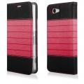 Pouzdro na Samsung G800 S5 Mini DOUBLE černo-červené