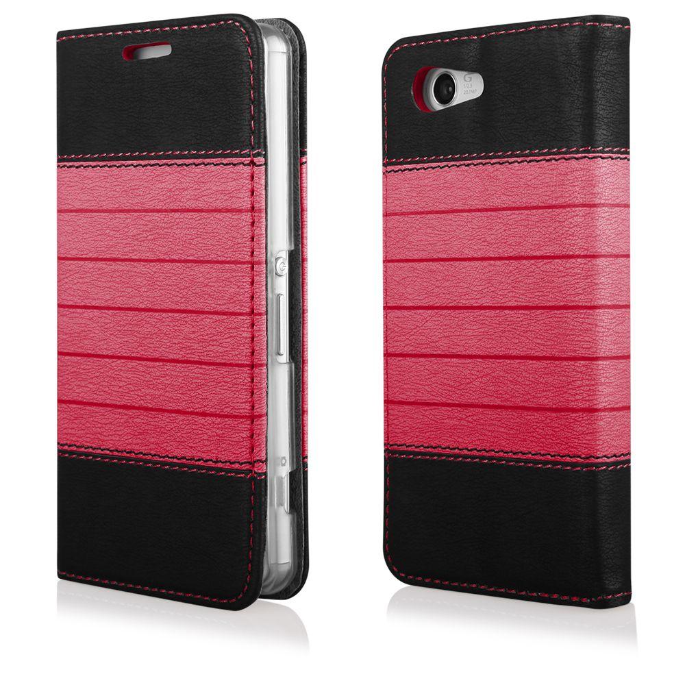 Pouzdro na Samsung G800 S5 Mini DOUBLE černo-červené EGO Mobile
