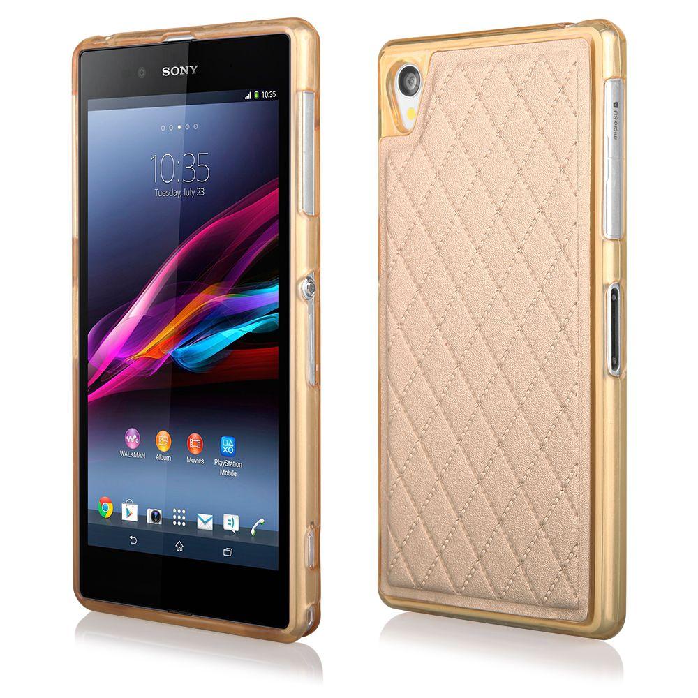 Pouzdro Qult Skin pro Sony Xperia Z1 zlaté