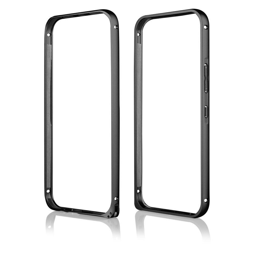 Pouzdro na HTC One M9 - Bumper metal - černé QULT Case