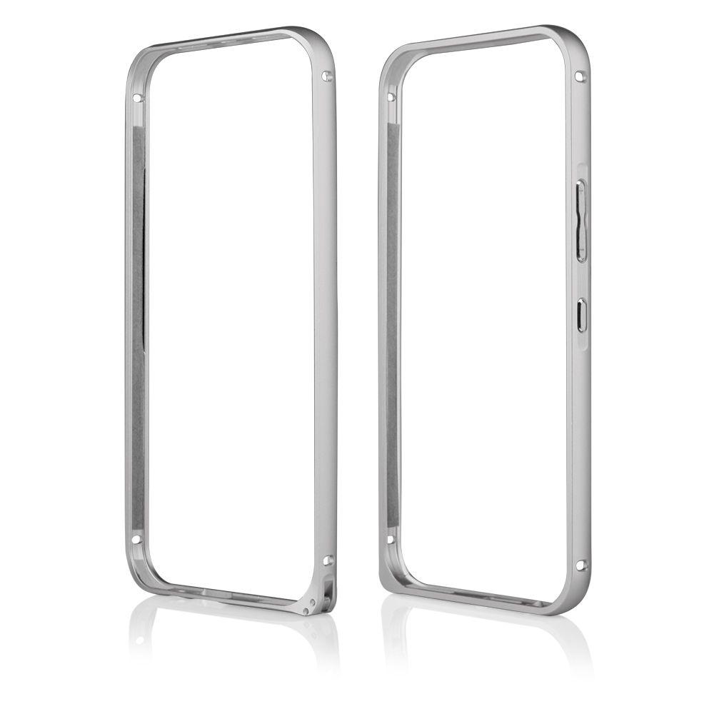 Pouzdro na HTC One M9 - Bumper metal - stříbrné QULT Case
