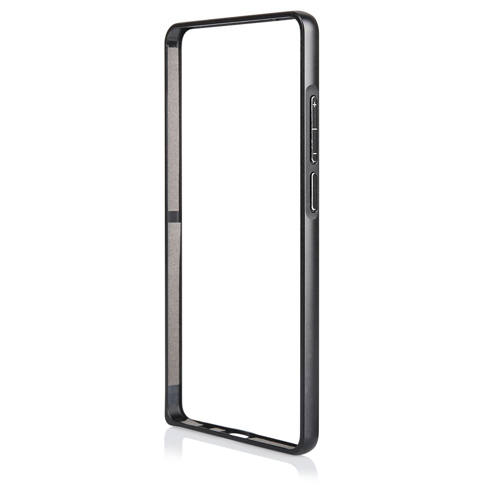 Pouzdro na Huawei MATE 7 - Bumper metal - černé QULT Case