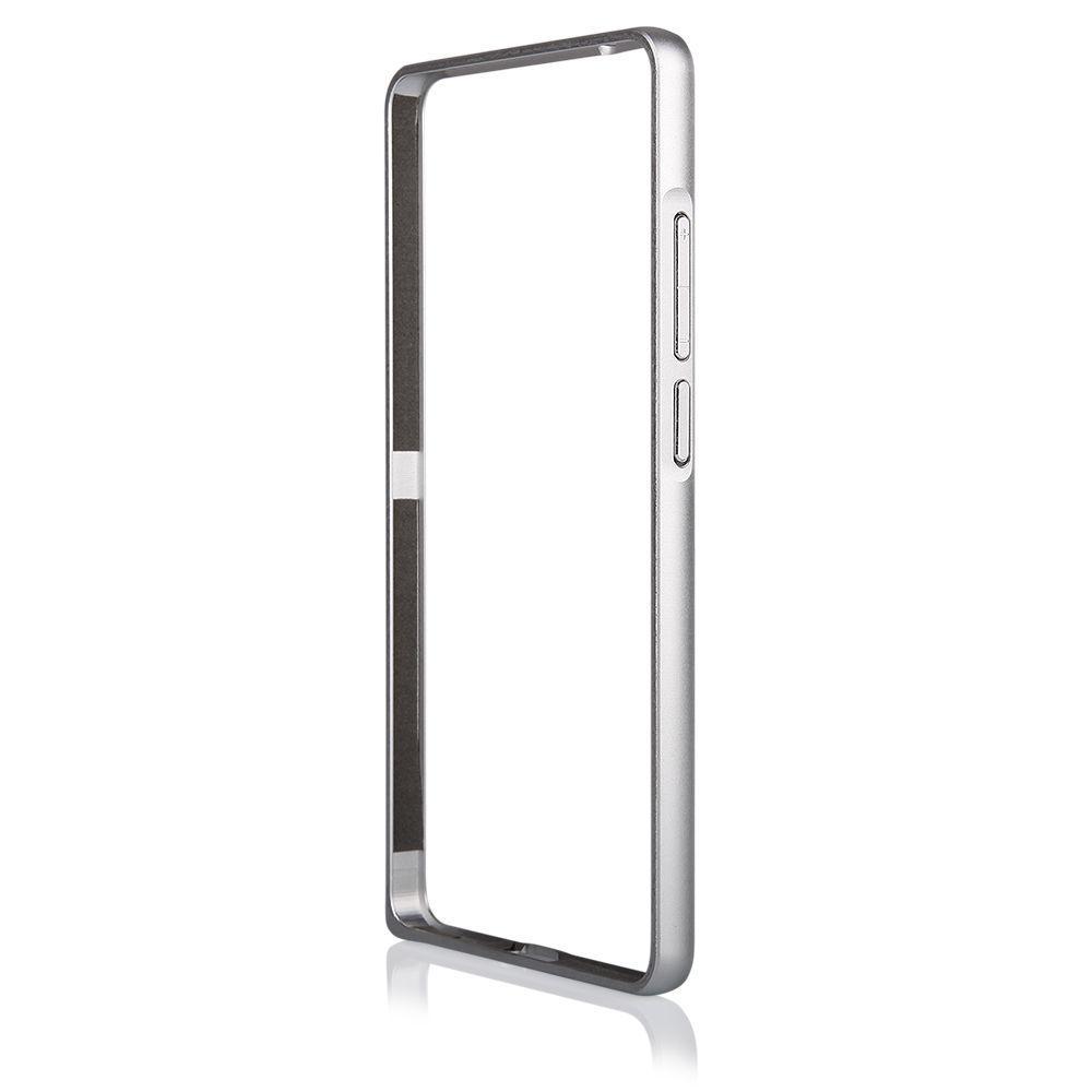 Pouzdro na Huawei MATE 7 - Bumper metal - stříbrné QULT Case