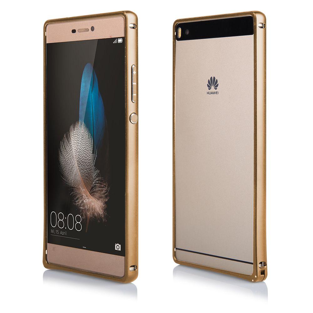 Pouzdro na Huawei P8 - Bumper metal - zlaté QULT Case