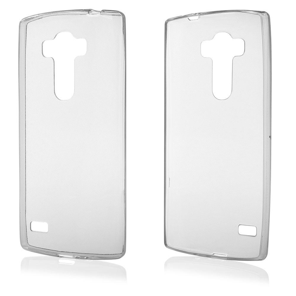 Pouzdro na LG G4s / G4 Beat - FITTY - průhledné bílé Jelly Case