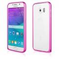 Pouzdro na Samsung G920 S6 - Bumper metal - tmavě růžové