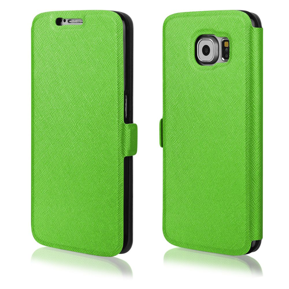 Pouzdro na Samsung G920 S6 - FLIP SOFT zelené Ego mobile