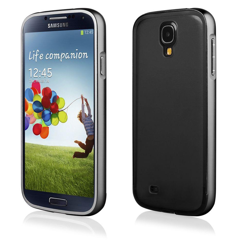 Pouzdro na Samsung i9500 S4 - LUXURY+ACRYLIC GLASS černé QULT Case