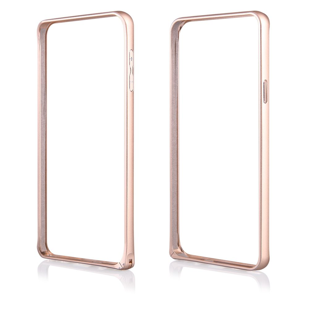 Pouzdro na Samsung N920 Note 5 - Bumper metal - zlaté QULT Case