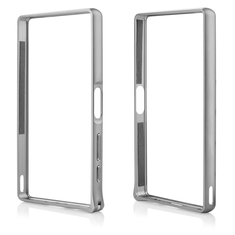 Pouzdro na Sony Xperia Z5 - Bumper metal - stříbrné QULT Case
