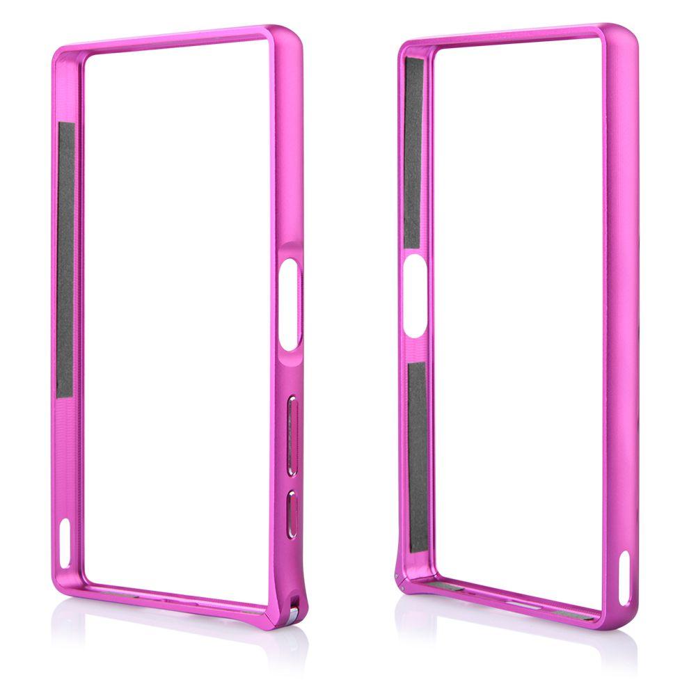 Pouzdro na Sony Xperia Z5 - Bumper metal - tmavě růžové QULT Case