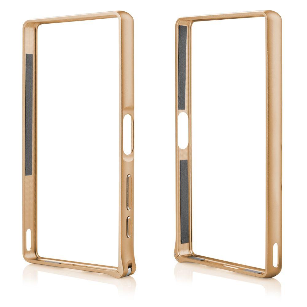 Pouzdro na Sony Xperia Z5 - Bumper metal - zlaté QULT Case