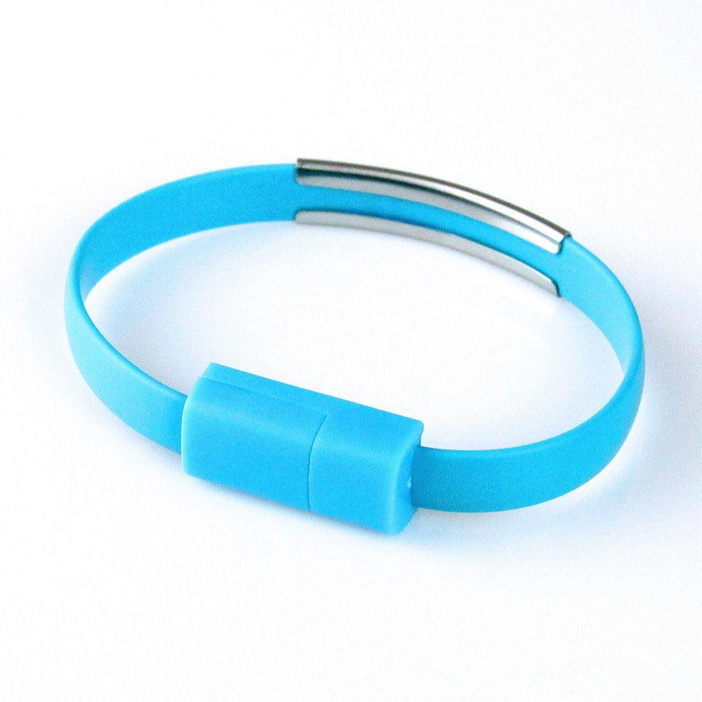 KABEL USB iPhone 6/6s/5/5s/7/8/X Náramek modrý Global Technology