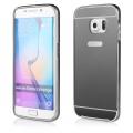 Pouzdro na Samsung G920 S6 - LUXURY+GLASS MIRROR - šedé