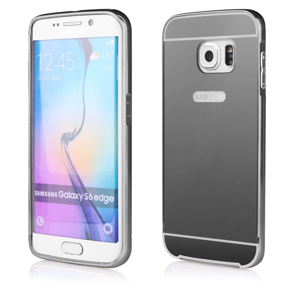 Pouzdro na Samsung G920 S6 - LUXURY+GLASS MIRROR - šedé QULT Case