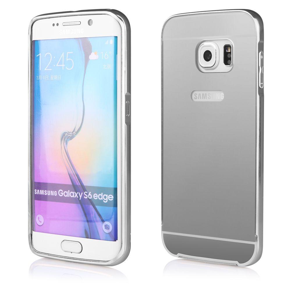 Pouzdro na Samsung G920 S6 - LUXURY+GLASS MIRROR - stříbrné QULT Case