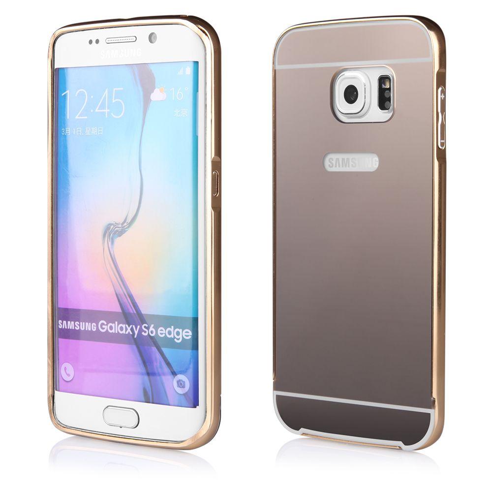 Pouzdro na Samsung G920 S6 - LUXURY+GLASS MIRROR - zlaté QULT Case