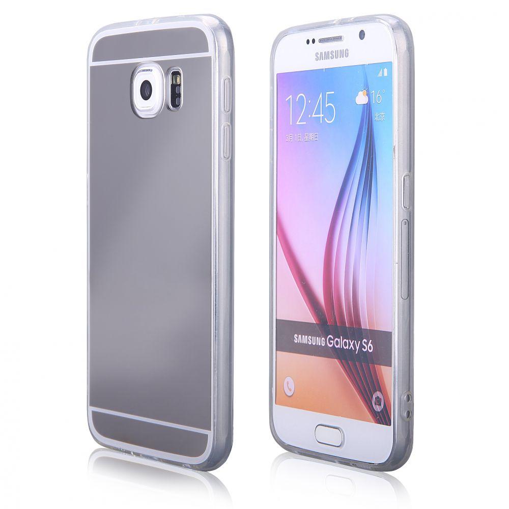 Pouzdro na Samsung G920 S6 - MIRROR - stříbrné Jelly Case