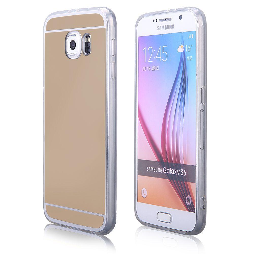 Pouzdro na Samsung G920 S6 - MIRROR - zlaté Jelly Case