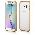 Pouzdro na Samsung G928 S6 + - LUXURY+ACRYLIC GLASS zlaté