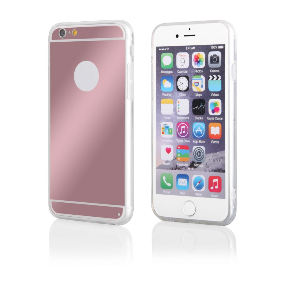 Pouzdro na Samsung G925 S6 EDGE - MIRROR - zlatě růžové Jelly Case